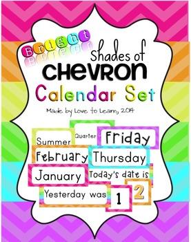 Calendar Set - Bright Shades of Chevron