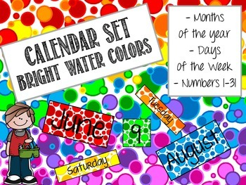 Calendar Set: Bright Water Colors
