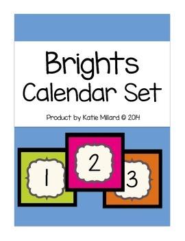 Calendar Set: Brights