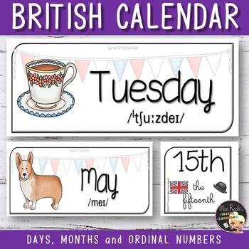 United Kingdom Themed Calendar