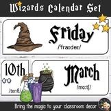 Wizards Calendar Theme Classroom Decor