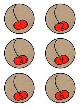 Calendar Set Burlap and Cherries