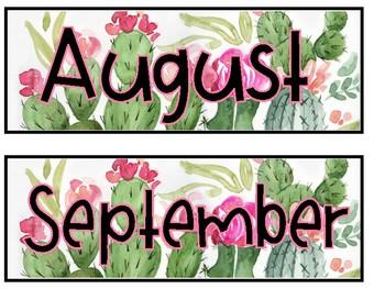 Calendar Set {Cactus}