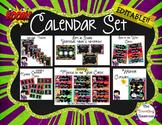 Calendar Set - Chalkboard Super Hero
