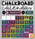 Calendar Display {Chalkboard and Chevron Classroom Decor Theme}