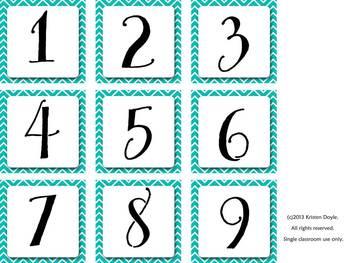 Calendar Set - Chevron w/ Owl accents