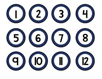 Calendar Set- Circles