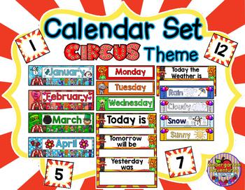 Calendar Set-Circus Theme