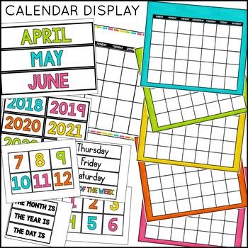 Calendar Set: Classroom Decor