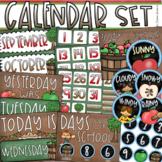 Calendar Set Classroom Decor Back to School Apple Theme