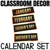 Calendar Classroom Decor | Black and Gold