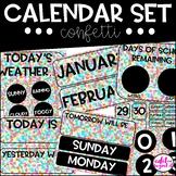 Calendar Set | Confetti | Polka Dots