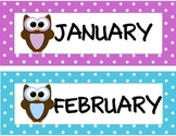 Owl Calendar Set   Calendar Kit   Classroom Decor   Bulletin Board   Class Decor