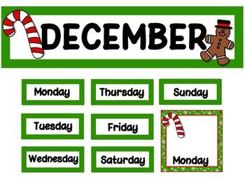 Calendar Set - December - Christmas FREE