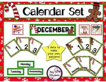 Calendar Set - December - Christmas