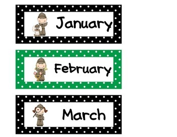 Calendar Set Detective / Mystery Theme