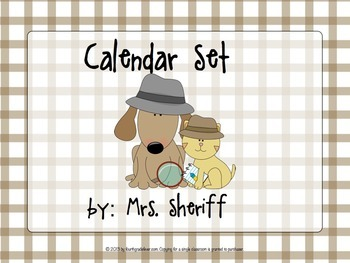 Calendar Set - Detective Theme {EDITABLE}