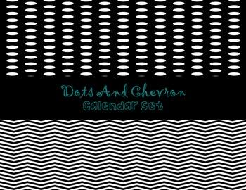 Calendar Set- Dots and Chevron