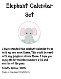 Calendar Set: Elephant/Jungle/Circus/Zoo Theme