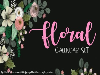 Calendar Set {Floral}