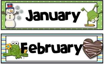 Calendar Set - Frog Theme