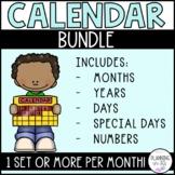 Calendar Bundle | Months, Days, Years, Numbers & Special D