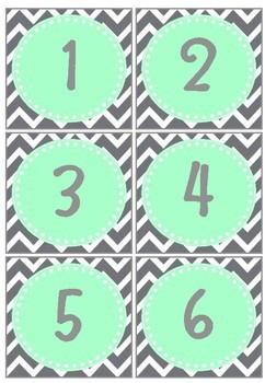 Calendar Set - Grey Chevron and Mint