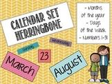 Calendar Set: Herringbone