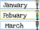 Calendar Set-Kids. months and days.