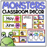 Calendar Display in a Monsters Classroom Decor Theme
