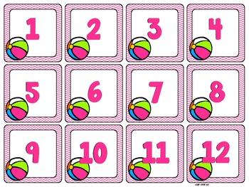 Calendar Set - Months and Days {A Set for Each Month}