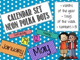 Calendar Set: Neon Polka Dots