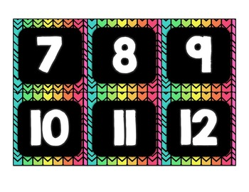 Calendar Set (Neon and Black Chevron)