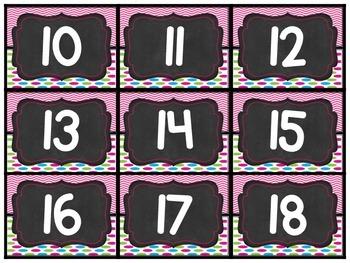 Calendar Set- Neon&Chalk