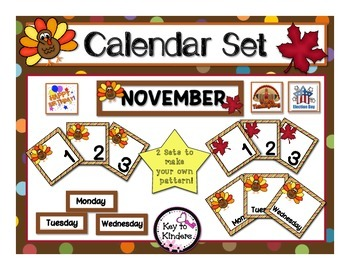 Calendar Set - November - Turkeys