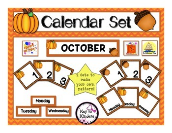 Calendar Set - October - Pumpkins
