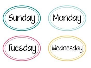 Calendar Set: Ovals