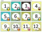 Calendar Set (Owl Theme) Months and Numbers