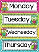 Calendar Display {Owls and Chevron Decor Theme}