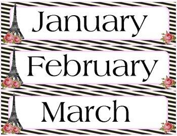 Calendar Set (Paris theme)
