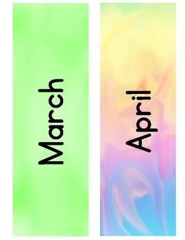 Calendar Set: Pastel Colors
