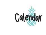 Calendar Set - Pineapple Theme