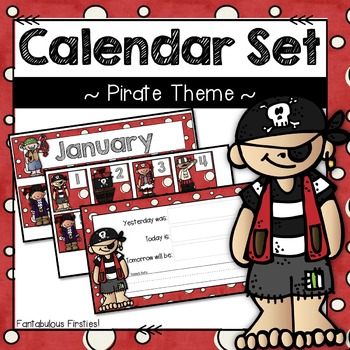 Calendar Set for Back to School Pirate Theme
