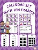 Kindness Matters Calendar Set Purple Cheveron With Ten Frames