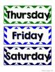 Calendar Set - Rainbow Chevron