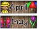 Calendar Set {Rustic Style}