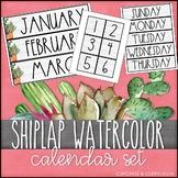 Calendar Set: Cactus Shiplap Decor