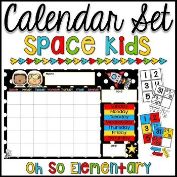 Calendar Set - Space Kids