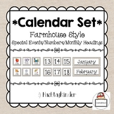 Calendar Set - Special Events/Numbers 1-31/Monthly Heading
