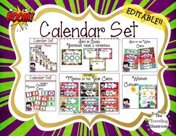 Calendar Set - Super Hero